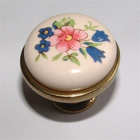 Flower Porcelain Antique Bathroom Kitchen Cabinet Door