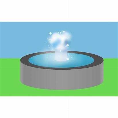 Fountain Water Clipart Clip Vector Cliparts Sculpture