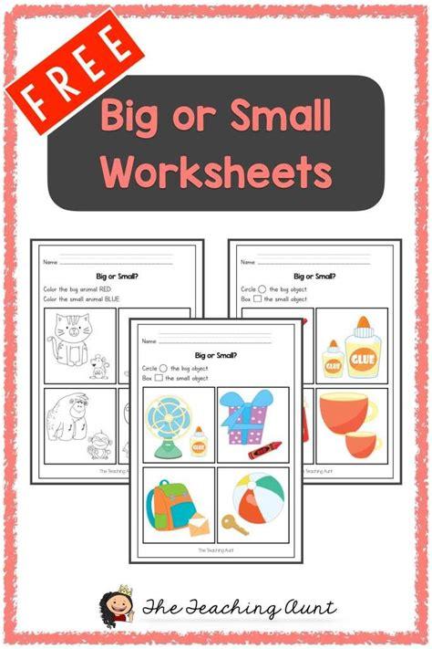 big  small worksheets  printable