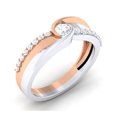 0 38 carat 18k white rose gold engagement ring engagement rings at best prices in
