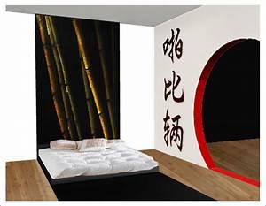 davausnet deco chambre zen japonais avec des idees With tapis chambre bébé avec pendentif fleur de lys or blanc