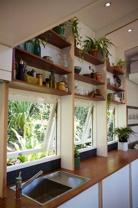 small homes interior design photos bed automatically retracts up high in this contemporary tiny house video treehugger
