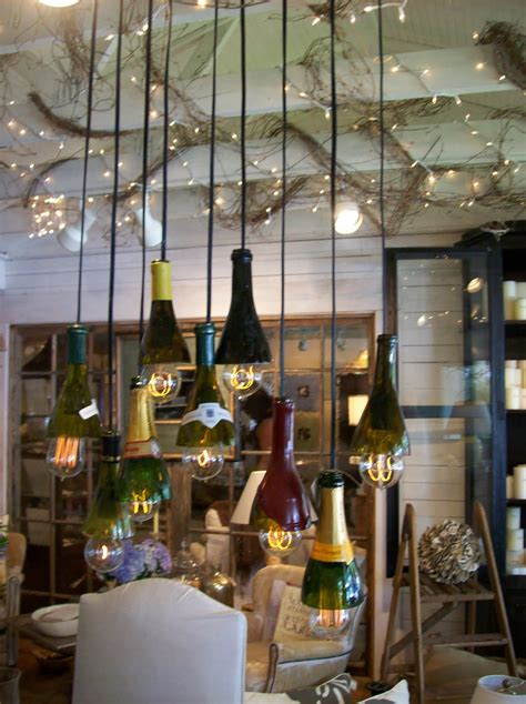the pineapple room wine bottle chandelier