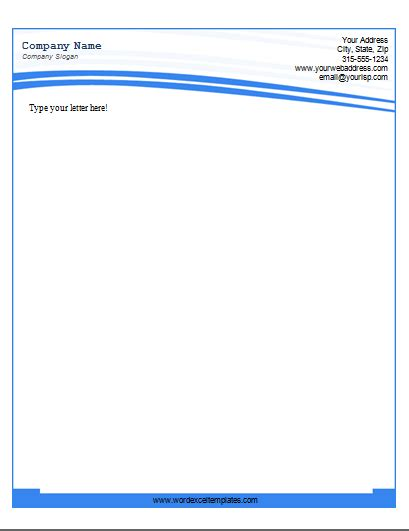 word business letterhead templates amp excel template