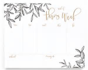 calligraphy invitations planner pad etsy