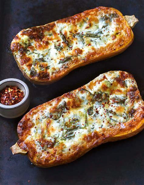 creamy  cheese spinach butternut squash recipe
