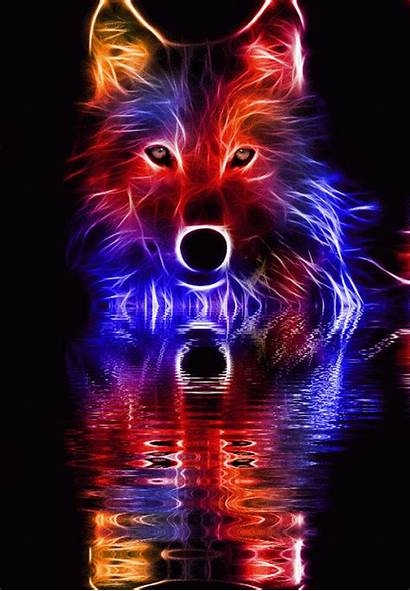 Cool Wolf Backgrounds Fire Parede Lobo Papel