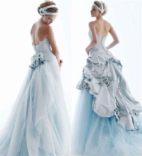 colored wedding dress blue colored wedding dresses sang maestro