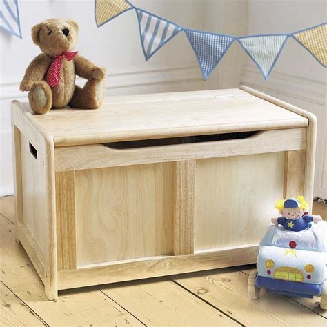 tidlo natural wooden toy box wooden toy chest wooden