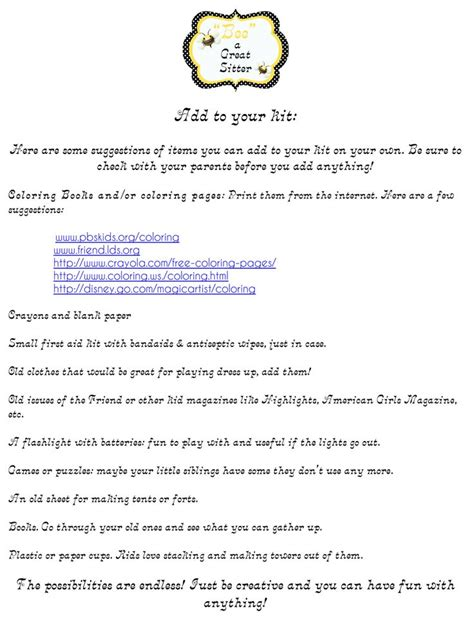 Things To Put On A Resume For Babysitting by Babysitting Tips Babysitting Babysitting And Tips