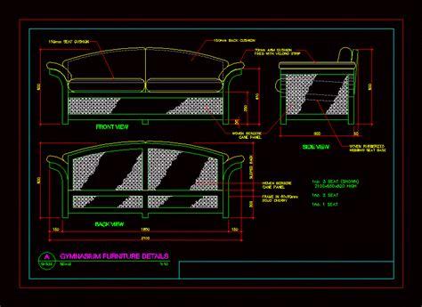 details   sofa dwg detail  autocad designs cad