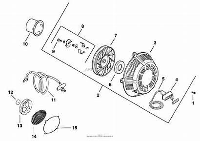 Recoil Kohler Hp Diagram System Starting Parts