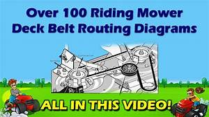 Riding Mower Deck Belt Diagrams Diy Repair Manual Ayp Mtd
