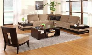 Contemporary wooden sofa tables low profile media console for Sectional sofa with table attached