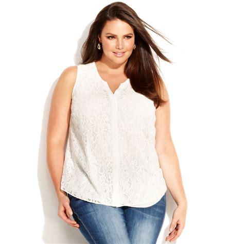 plus size lace blouse inc international concepts plus size sleeveless lace