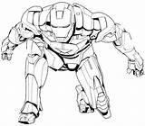 Coloring Jeff Killer Hulkbuster Iron Getdrawings sketch template