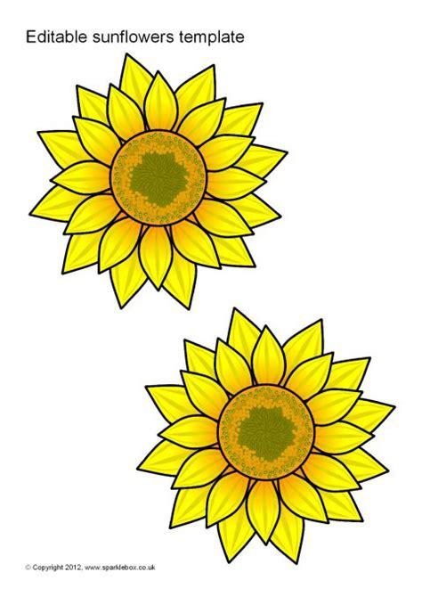 editable sunflower templates sb sparklebox