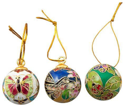 shop houzz value arts 12 piece cloisonne ball ornament set christmas ornaments