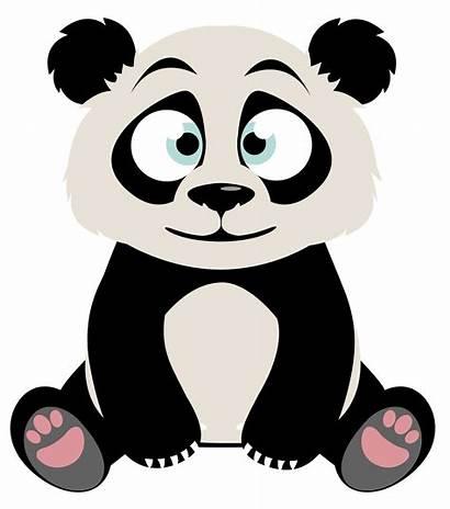 Panda Clipart Pandas Character Sitting Kawaii Imagen