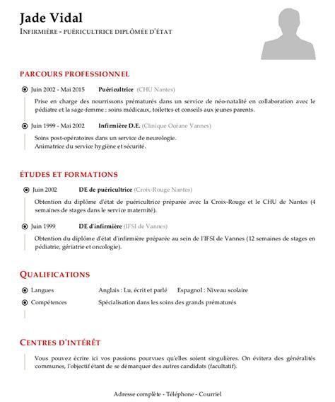 Un Resume In by Exemple De Cv Infirmier
