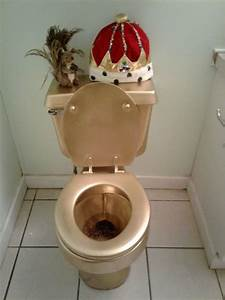 Painted Gold Toilet
