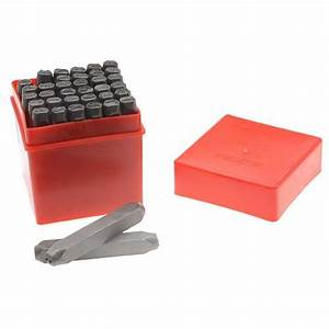 jewelry making kits 36 piece letter number punch set for With large letter punch set