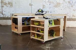 Ana White Ultimate Roll Away Workbench System for Ryobi