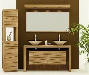 achat vente meuble de salle de bain groix sentani meuble With porte d entrée alu avec meuble salle de bain teck
