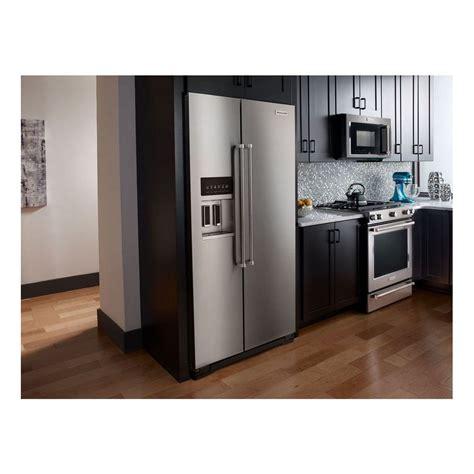 cabinet depth refrigerator krsc503ess kitchenaid 36 quot 22 7 cu ft counter depth