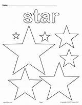 Coloring Stars Star Shape sketch template