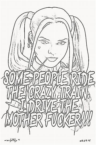 Coloring Pages Adult Colouring Word Printable Swear