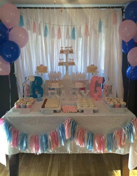 gender reveal table ideas sweet simplicity bakery white pink blue gender reveal