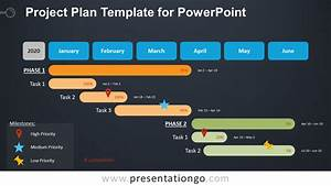 Gantt Charts Are Used To Project Plan Template For Powerpoint Presentationgo Com