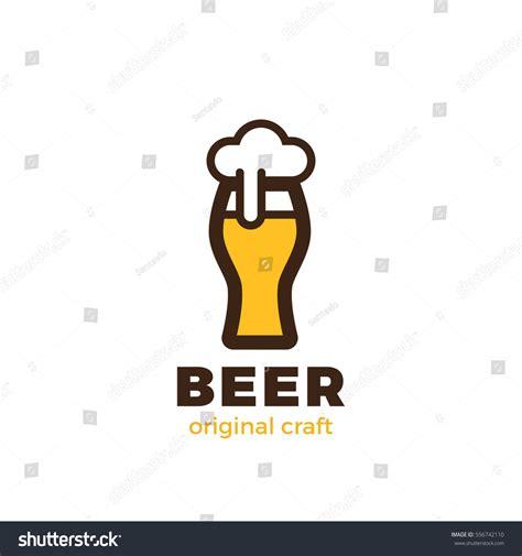 beer glass logo design vector template stock vector