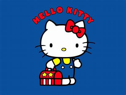 Kitty Hello Desktop Sanrio Cartoon Cat Gambar