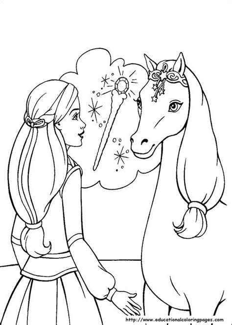 barbie magic pegasus coloring pages educational fun kids coloring pages  preschool skills