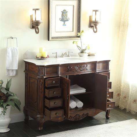 Adelina 56 Antique Style Bathroom Vanity Fully Assembled