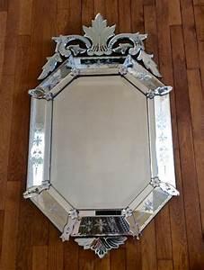 Miroir Vénitien Ancien : miroir v nitien octogonal fronton miroirs ~ Preciouscoupons.com Idées de Décoration