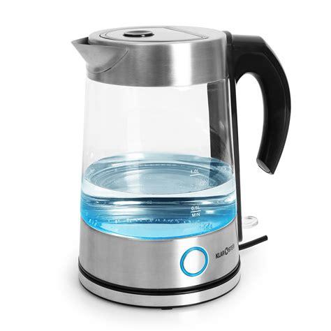 wasserkocher aus edelstahl wasserkocher stores klarstein quot water quot edelstahl wasserkocher aus glas beleuchtet