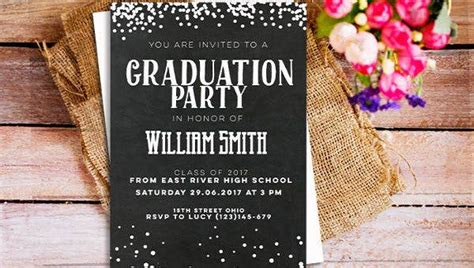 printable graduation invitations psd ai word