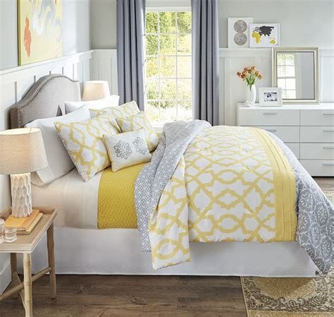 better homes and gardens yellow and gray medallion 5