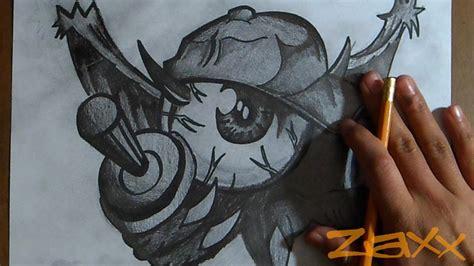 dibujo de un Ojo Mutante Graffiti ZaXx Doovi
