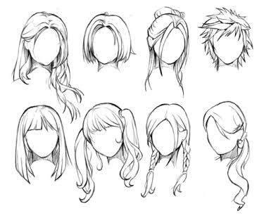 draw hair anime amino