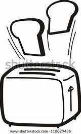 Toaster Cartoon Vector Illustration Shutterstock Illustrations sketch template
