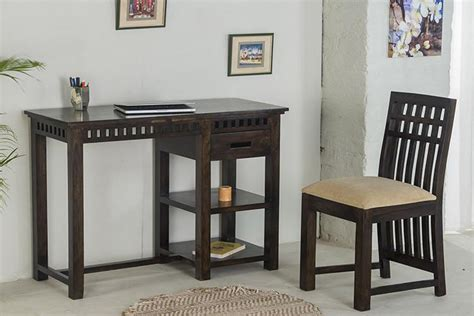 buy solid wood kuber writing study table