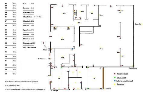 plan electrique chambre plan maison electricite