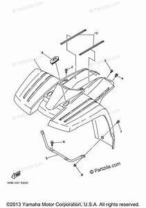 Yamaha Atv 2001 Oem Parts Diagram For Front Fender