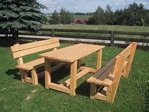 Gartenbank Holz Mit Tisch : garnituren sitzgarnitur gartenbank mit tisch ein designerst ck von massivholz rico bei dawanda ~ Bigdaddyawards.com Haus und Dekorationen