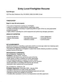Emt Resume Template Firefighter Resume Template 7 Free Word Pdf Document Free Premium Templates