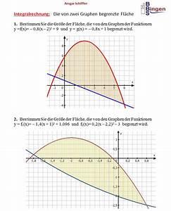 Fläche Zwischen Zwei Graphen Berechnen : bungsaufgaben zur integralrechnung ~ Themetempest.com Abrechnung